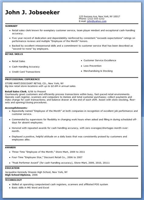 Retail Associate Duties Resume by Sales Resume Retail Sales Resume Exles Retail Sales