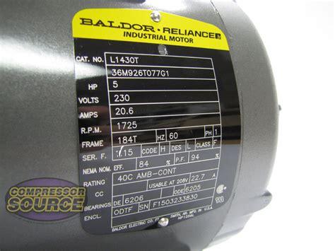 Single Phase Baldor Electric Compressor Motor