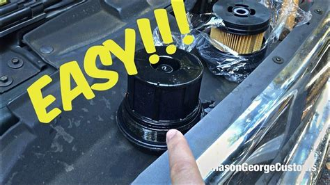Ford 7 3 Fuel Filter Change ford 7 3 wix diesel fuel filter change how to