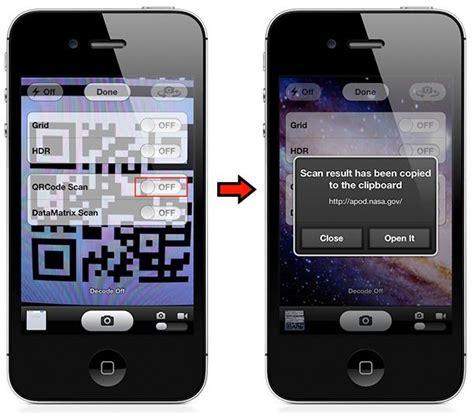 scan qr code iphone new ios tweak adds a qr code scanner to built in