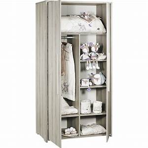 Armoire De Bébé : armoire chambre b b 2 portes xxl de sauthon meubles sur ~ Melissatoandfro.com Idées de Décoration