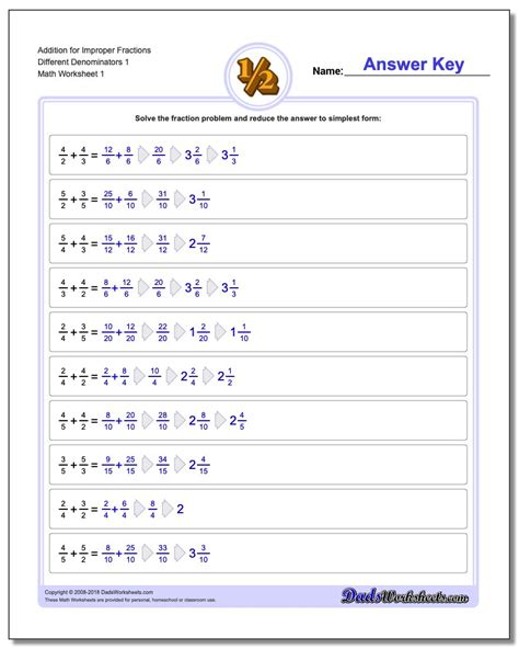 addition of dissimilar fraction worksheet reducing fractions to lowest terms enchantedlearning