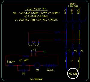 Basic Start  Stop Ac Motor Control Schematics