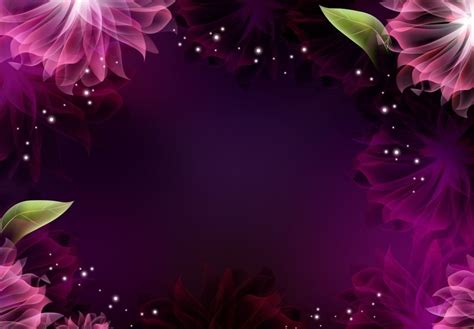 bright pink shiny flower frame powerpoint background available in 1024x712 this powerpoint