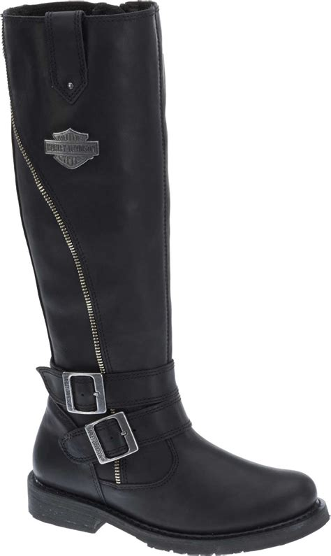 ladies black motorcycle boots harley davidson women 39 s sennett 15 5 quot black motorcycle