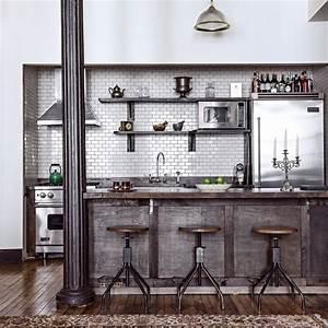 Cuisine Style Industriel Bois : 10 inspirations pour une cuisine industrielle marie claire ~ Teatrodelosmanantiales.com Idées de Décoration