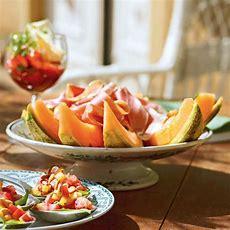 Melone Und Schinken Mit Honigvinaigrette Rezept Küchengötter