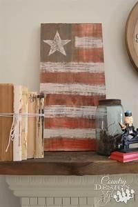 American Flag Crafts - Farmhouse Decor all Summer Long