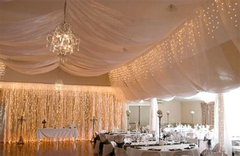 coatesville wedding lights and ceiling draping