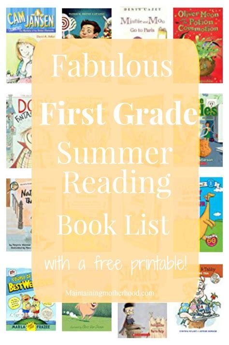 First Grade Summer Reading Book List  Maintaining Motherhood