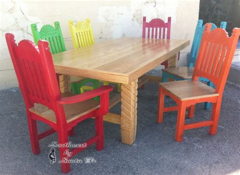 sunburst mexican style dining tables
