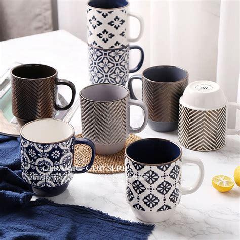 1000 x 1000 jpeg 165 кб. Ceramic mug high capacity personality simple coffee milk office breakfast cup Art water cup ...