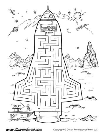 Space Mazes For Kids! Four Free Puzzle Activities To Print