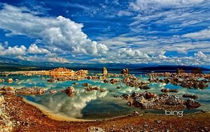 Desktop Bing Water Lake Wallpapers Clouds Rock