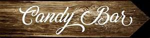 Pancarte En Bois : pancarte candy bar panneau directionnel bois de palette signal tique mariage et fete panneau ~ Teatrodelosmanantiales.com Idées de Décoration