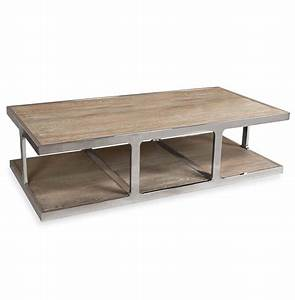 zanuso industrial reclaimed elm stainless steel With reclaimed wood rectangular coffee table