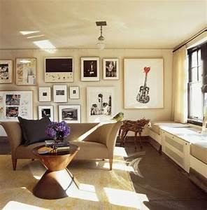 Dekoration Wohnzimmer Modern : wand dekoration mit bildern 29 kunstvolle wandgestaltung ideen ~ Indierocktalk.com Haus und Dekorationen
