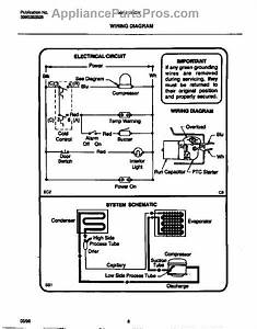 Parts For Frigidaire Mfu17m3bw3  Wiring Diagram Parts