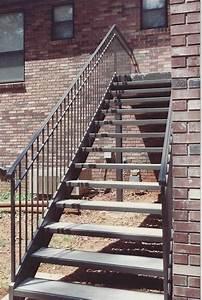 Straight Metal Stairs Birmingham Al