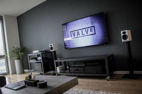 Livingroom Pc by Gaming Desks Gaming Room Setup Living Room Setup