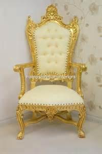 gold throne royal gold wedding