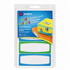 avery kids permanent waterproof labels 3 12 x 1 14 With avery waterproof water bottle labels