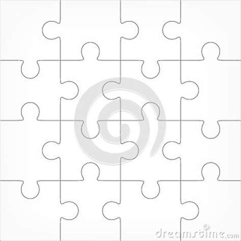 jigsaw puzzle blank template  stock illustration
