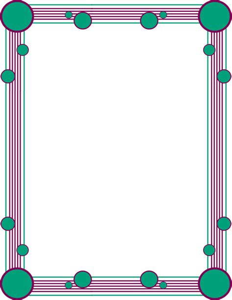 simple color border clipart clipground
