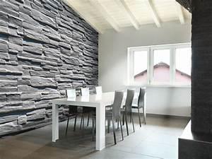 Mur Effet Brique : effet bois brique et pierre sur papiers peints ~ Melissatoandfro.com Idées de Décoration