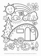 Coloring Pages Adult Sheets Camping Printable Collegesportsmatchups sketch template
