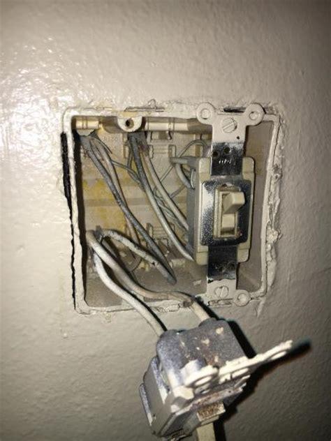 split bathroom fan  light switch  double switch