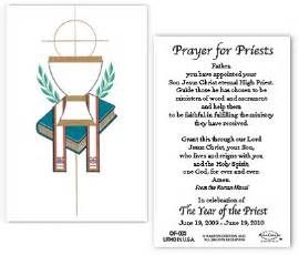 50th wedding anniversary card message symbolic chalice with year of the priest prayer pack of