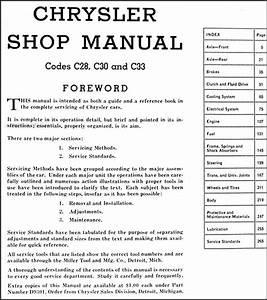 1941 Chrysler Repair Shop Manual Original