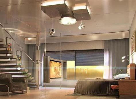 techno interior design style contemporary room decorating