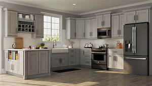 Shaker Wall Cabinets In Dove Gray Kitchen The Home Depot