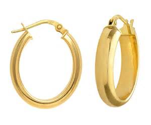 hoop earing stunning 9 ct gold hoop earrings 24mm 6mm