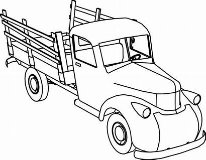 Coloring Truck Pages Pickup Chevy Ford Printable