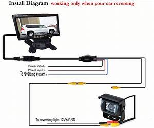 2019 12v Car Rear View Kit Reverse Parking Backup White Camera   7 Lcd Monitor For Bus Truck