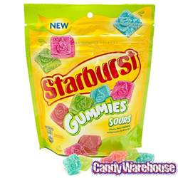 starburst gummies sours 8 ounce bag candywarehouse