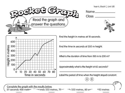 triangle rocket graph a year 5 line graphs worksheet