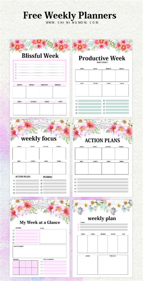 weekly planner template   brilliant designs