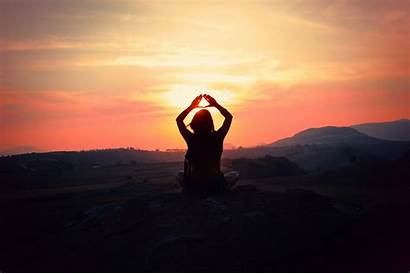 Yoga Silhouette Joel Sossa Illuminati Wallpoper Sunset