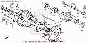Honda Atc110 1983 Usa Rear Brake Drum 79-83
