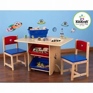 Table Enfant Avec Rangement : table de jeu enfant et chaises motif toiles kidkraft ma chambramoi ~ Melissatoandfro.com Idées de Décoration