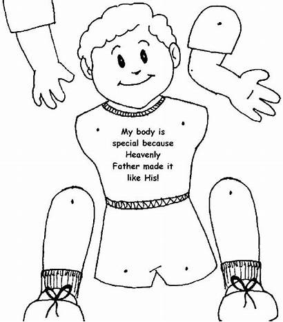 Coloring Parts Pages Human Healthy Kindergarten Preschool