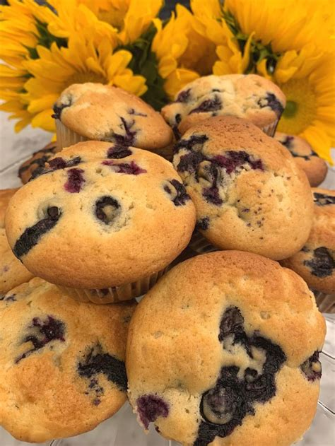 The sour cream coffee cake has been a favorite for years. Ina Garten's Blueberry Coffee Cake Muffins (With images)   Blueberry coffee cake muffins ...