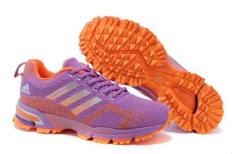 jual sepatu adidas marathon tr wanita ungu orange di lapak