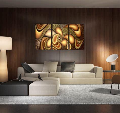 tableaux modernes pour salon hippies gold flowers triptyque contemporain