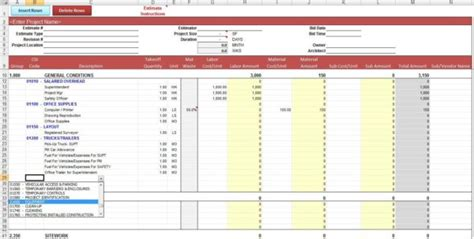 construction job costing templates construction job costing spreadsheet template expense
