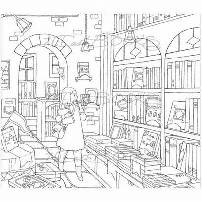 Coloring Dream Adult Stores Pages Colouring Books